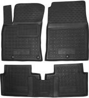 Коврики в салон для Hyundai i30 PD '17- резиновые, черные (AVTO-Gumm)