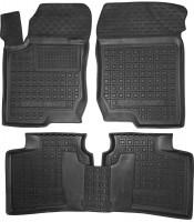 Коврики в салон для Kia Magentis '06-11 резиновые, черные (AVTO-Gumm)