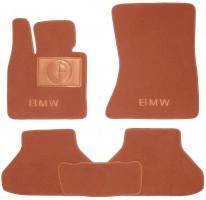 Коврики в салон для BMW X6 E71 '08- текстильные, терракотовые (Премиум)
