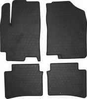 Коврики в салон для Hyundai Accent '17- резиновые, черные (Stingray)