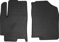 Коврики в салон передние для Hyundai Accent '17- резиновые, черные (Stingray)