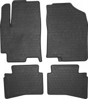 Коврики в салон для Kia Rio '17- резиновые, черные (Stingray)