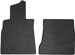 Коврики в салон передние для Mercedes S-Class W222 '13- резиновые, черные (Stingray)