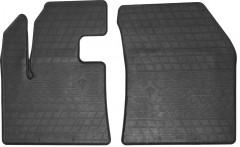 Коврики в салон передние для Peugeot 3008 '17- резиновые, черные (Stingray)