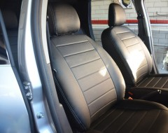 AVTO-MANIA Авточехлы из экокожи S-LINE для салона Renault Duster '15-18, коричневые (AVTO-MANIA)