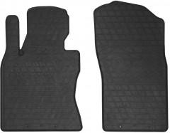 Коврики в салон передние для Infiniti Q50 '14- резиновые, черные (Stingray)