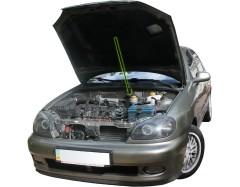 Газовый упор капота для Daewoo Lanos / Sens '98- без распорки