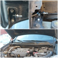 Фото 2 - Газовые упоры капота для Nissan Qashqai '06-14, 2 шт.
