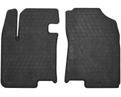 Коврики в салон передние для Hyundai i-20 '08-14 резиновые, черные (Stingray)