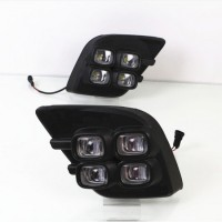 Дневные ходовые огни для Toyota Hilux '15- (LED-DRL)