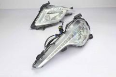 Противотуманные фары для Hyundai Sonata '13-15 (LED-DRL) светодиодные с DRL