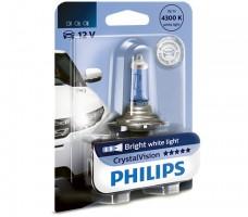 Фото 1 - Автомобильная лампочка Philips CrystalVision H4 12V 60/55W