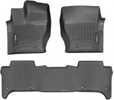 Коврики в салон для Land Rover Range Rover Sport '13- черные, резиновые 3D (WeatherTech)