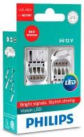 Автомобильные лампочки Philips Vision LED W21W (2 шт.) 12838REDX2