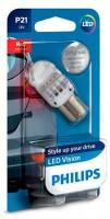 Автомобильная лампочка Philips Vision LED P21W 12839REDB1
