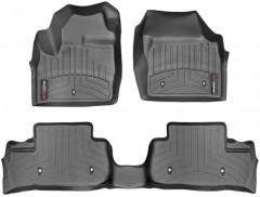 Коврики в салон для Land Rover Freelander II '13-14 черные, резиновые 3D (WeatherTech)