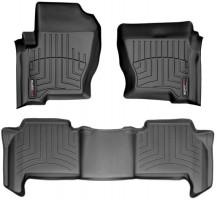 Коврики в салон для Land Rover Range Rover Sport '05-08 черные, резиновые 3D (WeatherTech)
