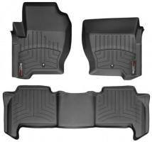 Коврики в салон для Land Rover Range Rover Sport '09-13 черные, резиновые 3D (WeatherTech)