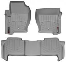 Коврики в салон для Land Rover Range Rover Sport '09-13 серые, резиновые 3D (WeatherTech)