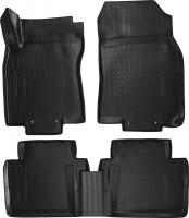Коврики в салон для Renault Koleos '17-, полиуретановые, черные (Nor-Plast)