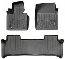 Коврики в салон для Land Rover Range Rover Vogue '10-12 черные, резиновые 3D (WeatherTech)