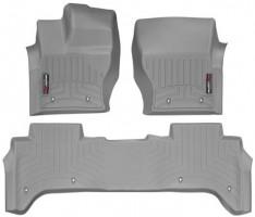 Коврики в салон для Land Rover Range Rover Vogue '13- серые, резиновые 3D (WeatherTech)