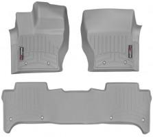 Коврики в салон для Land Rover Range Rover Sport '13- серые, резиновые 3D (WeatherTech)