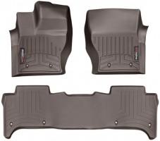 Коврики в салон для Land Rover Range Rover Sport '13- коричневые, резиновые 3D (WeatherTech)