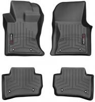 Коврики в салон для Jaguar F-Pace '16- черные, резиновые 3D (WeatherTech)
