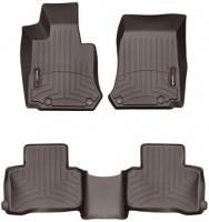 Коврики в салон для Mercedes GLC-Class X253 '15- коричневые, резиновые 3D (WeatherTech)