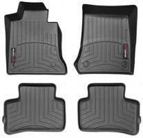 Коврики в салон для Mercedes GLK-Class X204 '12-15 черные, резиновые 3D (WeatherTech)