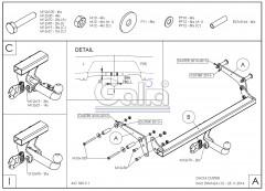 Фаркоп на двох болтах Renault Duster '10-18 (Galia)