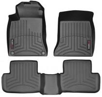 Коврики в салон для Mercedes GLA-Class X156 '13- черные, резиновые 3D (WeatherTech)