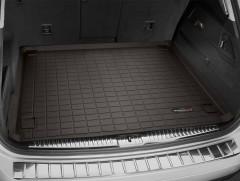 Коврик в багажник для Volkswagen Touareg '10-18 (2-х зонный климат), коричневый (Weathertech)