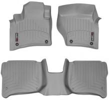 Коврики в салон для Volkswagen Touareg '10-18 (4-х зонный климат) серые, резиновые 3D (WeatherTech)