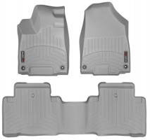 Коврики в салон для Acura MDX '14- серые, резиновые 3D (WeatherTech)