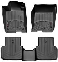 Коврики в салон для Acura TLX '14- черные, резиновые 3D (WeatherTech) (2WD)