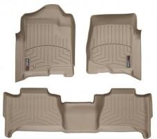 Коврики в салон для Cadillac Escalade III '07-13 бежевые, резиновые 3D (WeatherTech)