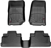 Коврики в салон для Jeep Wrangler '07-14, Unlimited черные, резиновые (WeatherTech)