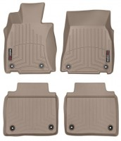 Коврики в салон для Lexus LS '06-17, 2WD, Long бежевые, резиновые 3D (WeatherTech)