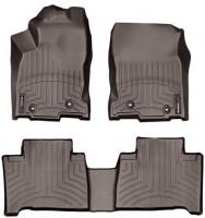 Коврики в салон для Lexus NX '14- коричневые, резиновые 3D (WeatherTech)