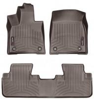 Коврики в салон для Lexus RX '16- коричневые, резиновые 3D (WeatherTech)