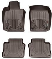 Фото 1 - Коврики в салон для Porsche Panamera '10-16 коричневые, резиновые 3D (WeatherTech)