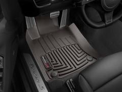 Фото 2 - Коврики в салон для Porsche Panamera '10-16 коричневые, резиновые 3D (WeatherTech)