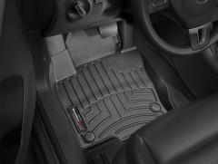 Фото 2 - Коврики в салон для Volkswagen Tiguan '16- черные, резиновые 3D (WeatherTech)