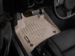 Фото 2 - Коврики в салон для Volkswagen Touareg '10- (2-х зонный климат) бежевые, резиновые 3D (WeatherTech)
