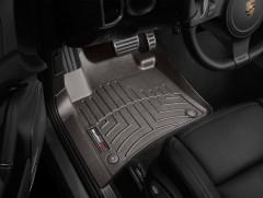 Фото 2 - Коврики в салон для Volkswagen Touareg '10- (4-х зонный климат) коричневые, резиновые 3D (WeatherTech)