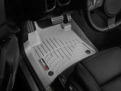 Фото 2 - Коврики в салон для Volkswagen Touareg '10- (2-х зонный климат) серые, резиновые 3D (WeatherTech)