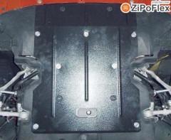 Защита двигателя и радиатора для BMW X1 E84 '09-15, V-2,0D, АКПП, задний привод (Кольчуга) Zipoflex