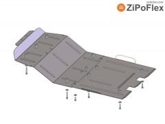 Защита двигателя и радиатора, редуктора для Toyota Land Cruiser 200 '07-, V-4,5D, АКПП (Кольчуга) Zipoflex